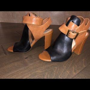 Gianni bini heels black and brown never worn